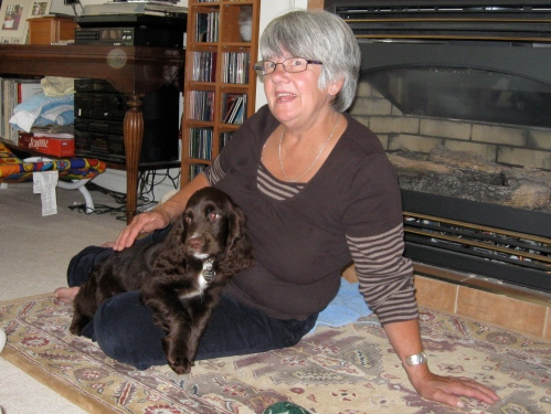 Mum and her new puppy, Sprocket